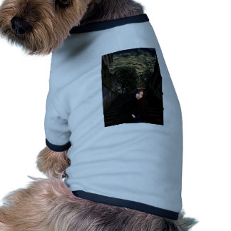 Chica medieval en las escaleras camisetas de perrito