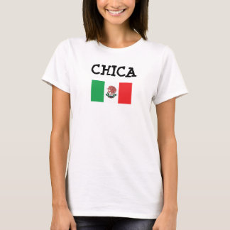 CHICA Mexican Flag Women's Basic T-Shirt