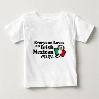 Chica mexicano irlandés playera de bebé