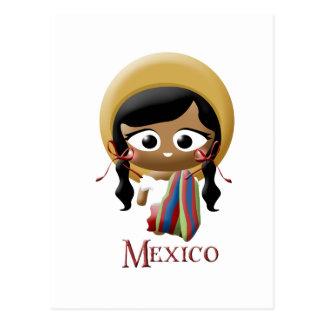 Chica mexicano postal