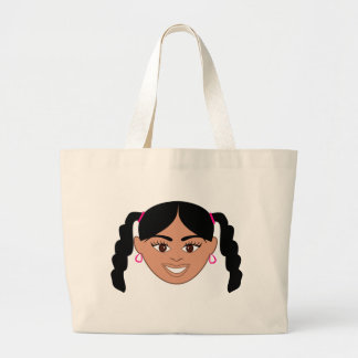 Chica mezclado bolsa de tela grande