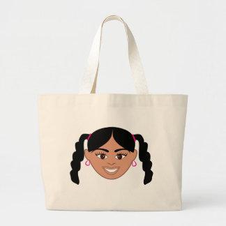 Chica mezclado bolsa tela grande