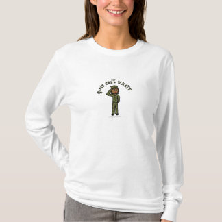 Chica militar - oscuridad playera