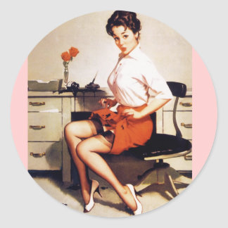 Chica modelo corporativo de la oficina de Gil Elvg Etiquetas