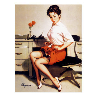 Chica modelo corporativo de la oficina de Gil Elvg Postales