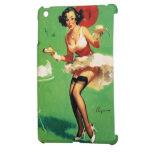Chica modelo de Gil Elvgren del vintage del tiempo iPad Mini Coberturas