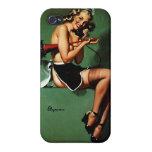 Chica modelo de la criada francesa retra de Gil El iPhone 4/4S Carcasas