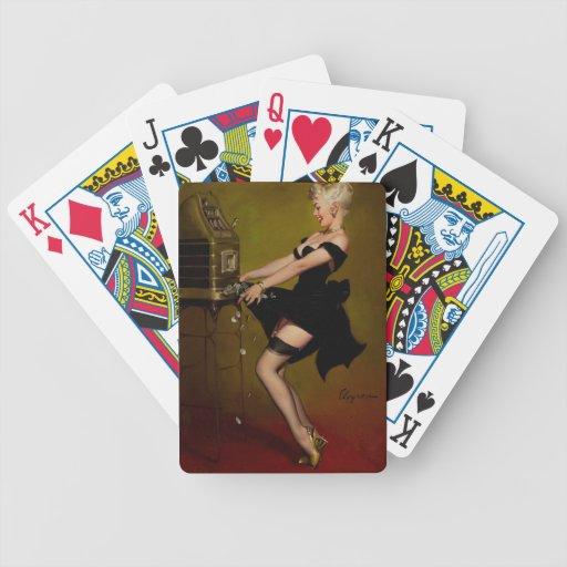 Chica modelo de la máquina tragaperras de Gil Elvg Baraja Cartas De Poker