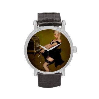 Chica modelo de la máquina tragaperras de Gil Elvg Relojes