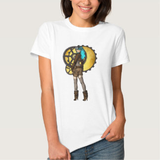 Chica modelo de Steampunk Remeras