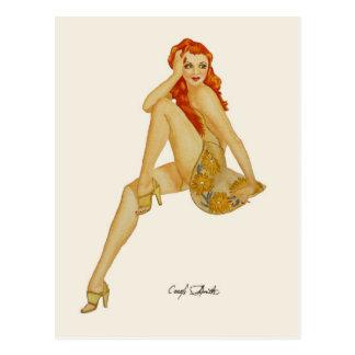 Chica modelo de Vargas - mini impresiones del cole Postales