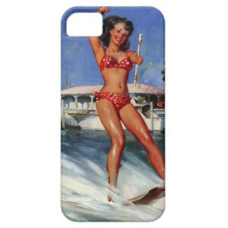 Chica modelo del esquí acuático retro de Gil Elvgr iPhone 5 Case-Mate Cobertura
