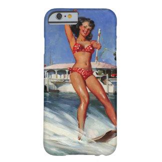 Chica modelo del esquí acuático retro de Gil Funda De iPhone 6 Slim