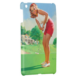 Chica modelo del golf retro de Gil Elvgren del