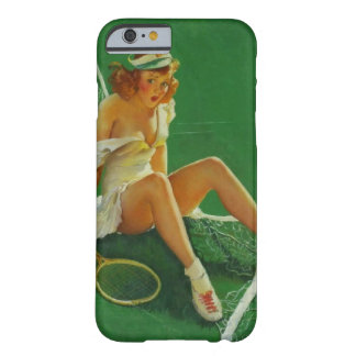 Chica modelo del tenis retro de Gil Elvgren del Funda De iPhone 6 Slim