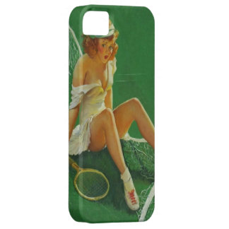 Chica modelo del tenis retro de Gil Elvgren del vi iPhone 5 Protector