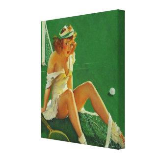 Chica modelo del tenis retro de Gil Elvgren del vi Impresiones En Lona Estiradas