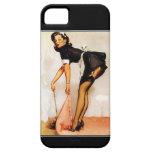 Chica modelo del vintage de la caja de la casamata iPhone 5 Case-Mate coberturas
