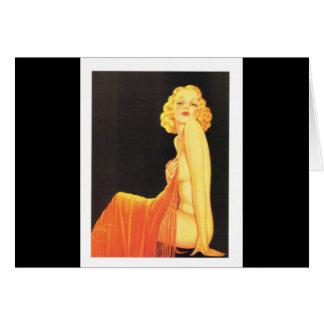 Chica modelo retro de Billy DeVorss del vintage Felicitación