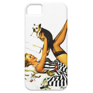 Chica modelo retro de Gil Elvgren del vintage con  iPhone 5 Carcasas
