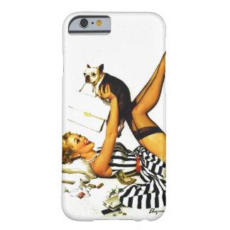 Chica modelo retro de Gil Elvgren del vintage con Funda Barely There iPhone 6