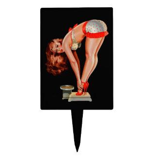 Chica modelo retro de Peter Driben del vintage en  Palillos De Tarta
