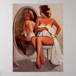 Chica modelo retro del moreno de Gil Elvgren Sun d Impresiones
