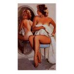 Chica modelo retro del moreno de Gil Elvgren Sun d Plantillas De Tarjeta De Negocio