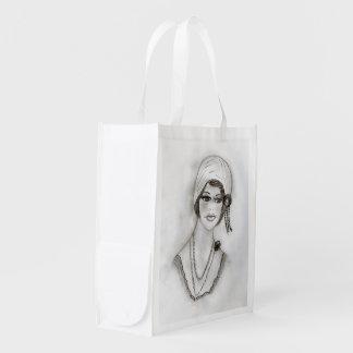 Chica moldeado de la aleta bolsas de la compra