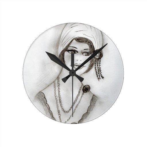 Chica moldeado de la aleta reloj