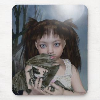 Chica Mousemat del dragón Alfombrillas De Raton