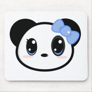 Chica Mousepad de la panda de Chibi Tapete De Ratón