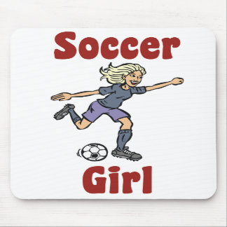 Chica Mousepad del fútbol
