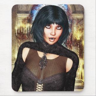 Chica Mousepad del vampiro Alfombrillas De Ratón