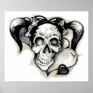 Chica muerto del punk rock poster