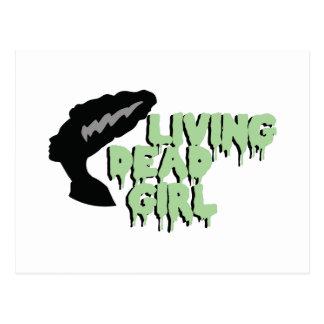 Chica muerto vivo tarjetas postales