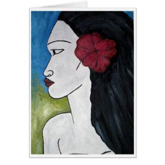 Chica nativo tarjeta pequeña