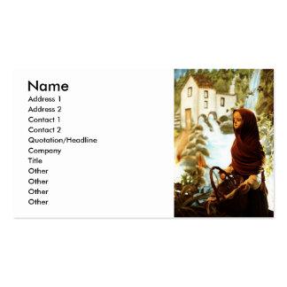 Chica nórdico joven tarjetas de visita