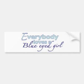 Chica observado azul pegatina para auto