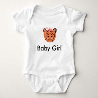 Chica Onsie del tigre de bebé Polera