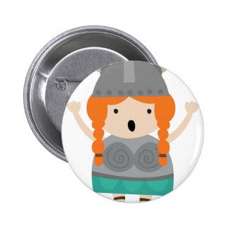 Chica-ópera-cantante de Vikingos Pin