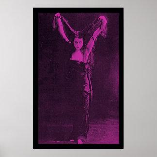 Chica original Theda Bara del gótico Impresiones