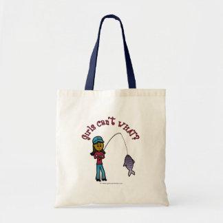 Chica oscuro de la pesca bolsas
