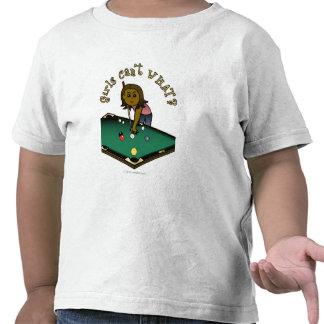 Chica oscuro de los billares camisetas