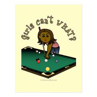 Chica oscuro de los billares tarjetas postales