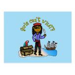 Chica oscuro del pirata postales
