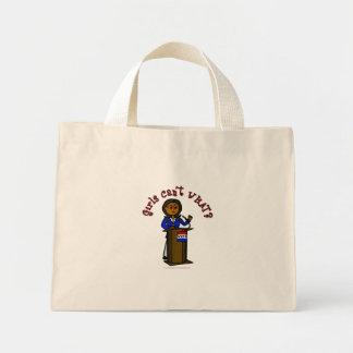 Chica oscuro del político bolsa tela pequeña