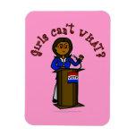 Chica oscuro del político iman rectangular