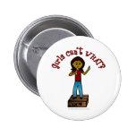 Chica oscuro en Soapbox Pins