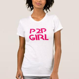 "Chica ""paga del P2P a jugar "" Camiseta"